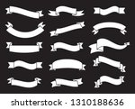 banners and ribbons set... | Shutterstock .eps vector #1310188636