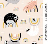 seamless childish pattern with... | Shutterstock .eps vector #1310190256