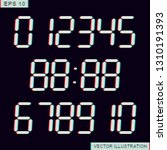 stereoscopic numbers.electronic ...   Shutterstock .eps vector #1310191393