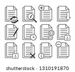 document icons. electronic... | Shutterstock .eps vector #1310191870