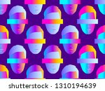 seamless pattern of male faces... | Shutterstock .eps vector #1310194639