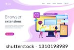 programmers with browser... | Shutterstock .eps vector #1310198989