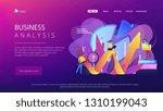 people recording analytics data ... | Shutterstock .eps vector #1310199043