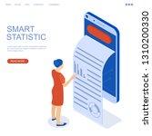 growing statistics graph.... | Shutterstock .eps vector #1310200330