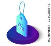 price tag. 3d isometric tag... | Shutterstock .eps vector #1310200843