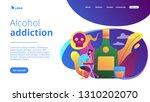 depressed drunk man sitting and ... | Shutterstock .eps vector #1310202070