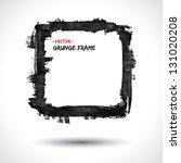 grunge vector frame. grunge... | Shutterstock .eps vector #131020208