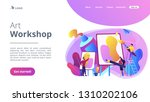 group of people practicing new... | Shutterstock .eps vector #1310202106
