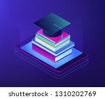 online education with tablet... | Shutterstock .eps vector #1310202769