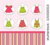 kid girl background with dresses | Shutterstock .eps vector #131020313