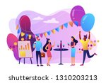 happy tiny business people... | Shutterstock .eps vector #1310203213