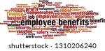 employee benefits word cloud... | Shutterstock .eps vector #1310206240