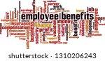 employee benefits word cloud... | Shutterstock .eps vector #1310206243