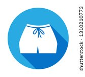 women's sport shorts icon with...