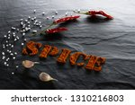 spice. ground paprika  chili... | Shutterstock . vector #1310216803