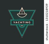 yachting club logo set.... | Shutterstock .eps vector #1310218939