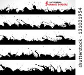 set of grunge borders. grunge... | Shutterstock .eps vector #131021954