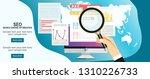 infographics background seo...   Shutterstock .eps vector #1310226733