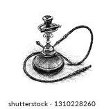 hookah.  pencil drawing. hand... | Shutterstock .eps vector #1310228260