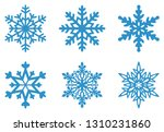 set of frosty snowflakes on an... | Shutterstock .eps vector #1310231860