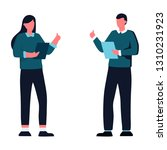 young business man and woman... | Shutterstock .eps vector #1310231923