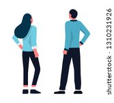 business men and women in... | Shutterstock .eps vector #1310231926