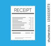 receipt icon. flat design.... | Shutterstock .eps vector #1310233573