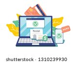 notification on financial... | Shutterstock . vector #1310239930