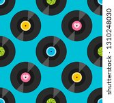 seamless pattern with vinil... | Shutterstock .eps vector #1310248030