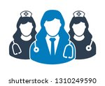 medical team icon. with doctor... | Shutterstock .eps vector #1310249590