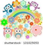 cute colorful floral pattern... | Shutterstock . vector #131025053