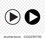 play button vector icon  music... | Shutterstock .eps vector #1310250730