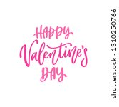 happy valentines day lettering. ... | Shutterstock .eps vector #1310250766