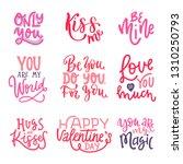 set of valentines day lettering.... | Shutterstock .eps vector #1310250793