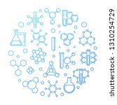 chemical concept background.... | Shutterstock .eps vector #1310254729