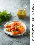 cured salmon with dill | Shutterstock . vector #1310255599
