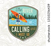 the river is calling and i must ... | Shutterstock .eps vector #1310256439