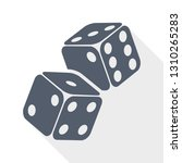 two game dices on flight.... | Shutterstock .eps vector #1310265283