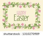 vector illustration of easter... | Shutterstock .eps vector #1310270989