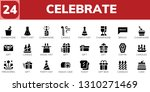 celebrate icon set. 24 filled... | Shutterstock .eps vector #1310271469