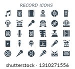 record icon set. 30 filled... | Shutterstock .eps vector #1310271556