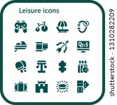 leisure icon set. 16 filled... | Shutterstock .eps vector #1310282209