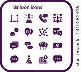 balloon icon set. 16 filled... | Shutterstock .eps vector #1310282446