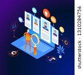 job interview. recruitment... | Shutterstock .eps vector #1310284756