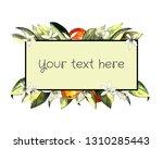 hand draw template of mandarin  ... | Shutterstock . vector #1310285443
