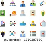 color flat icon set builder...