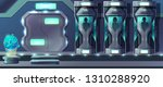 human cloning cartoon vector... | Shutterstock .eps vector #1310288920
