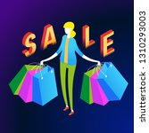 the sale and consumer concept.... | Shutterstock .eps vector #1310293003