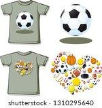 love sport shirt with short... | Shutterstock .eps vector #1310295640