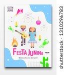 festa junina poster for latin...   Shutterstock .eps vector #1310296783